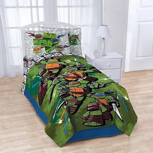 Teenage Mutant Ninja Turtles Plush Blanket Bedding Tmnt By Nickelodeon Tmnt Room Ninja Turtles Ninja Turtle Bedroom