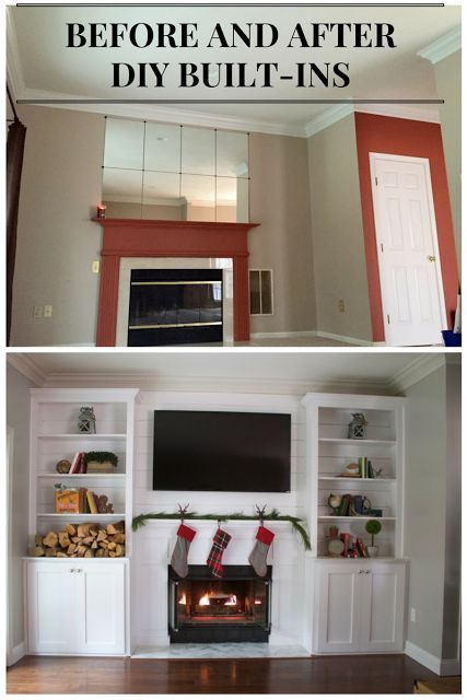Living Room And Fireplace Makeoverdiy Builtins  Living Room Alluring Living Room Built Ins 2018