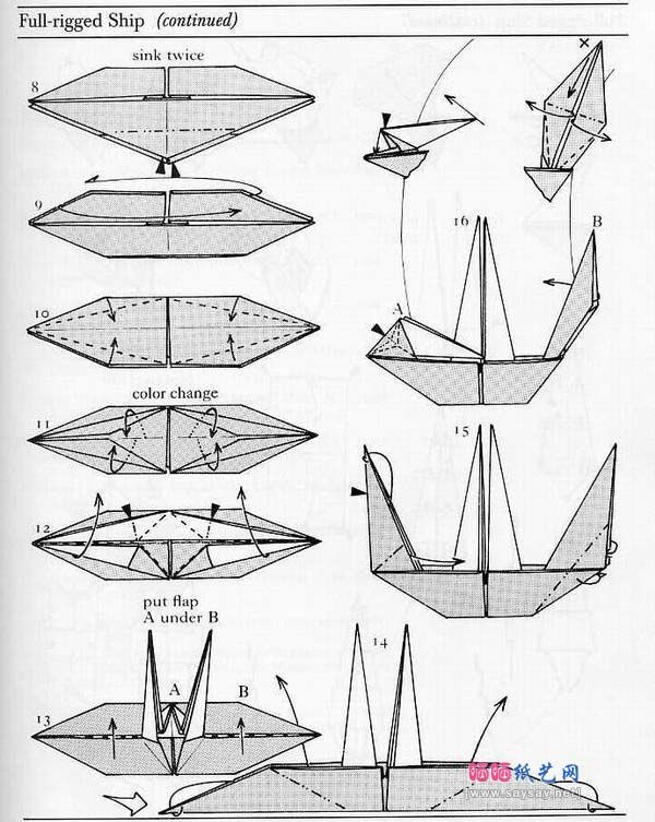 origami sailing boat 2 origami amp paper art pinterest