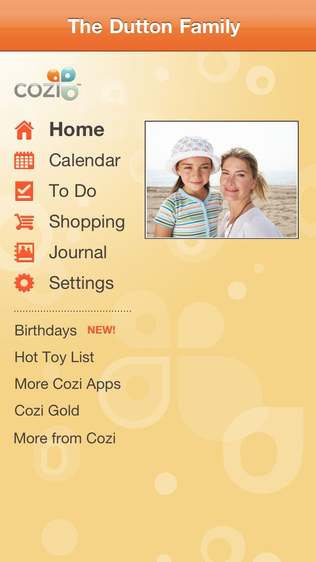 The Cozi Family Organizer app allows users to manage their
