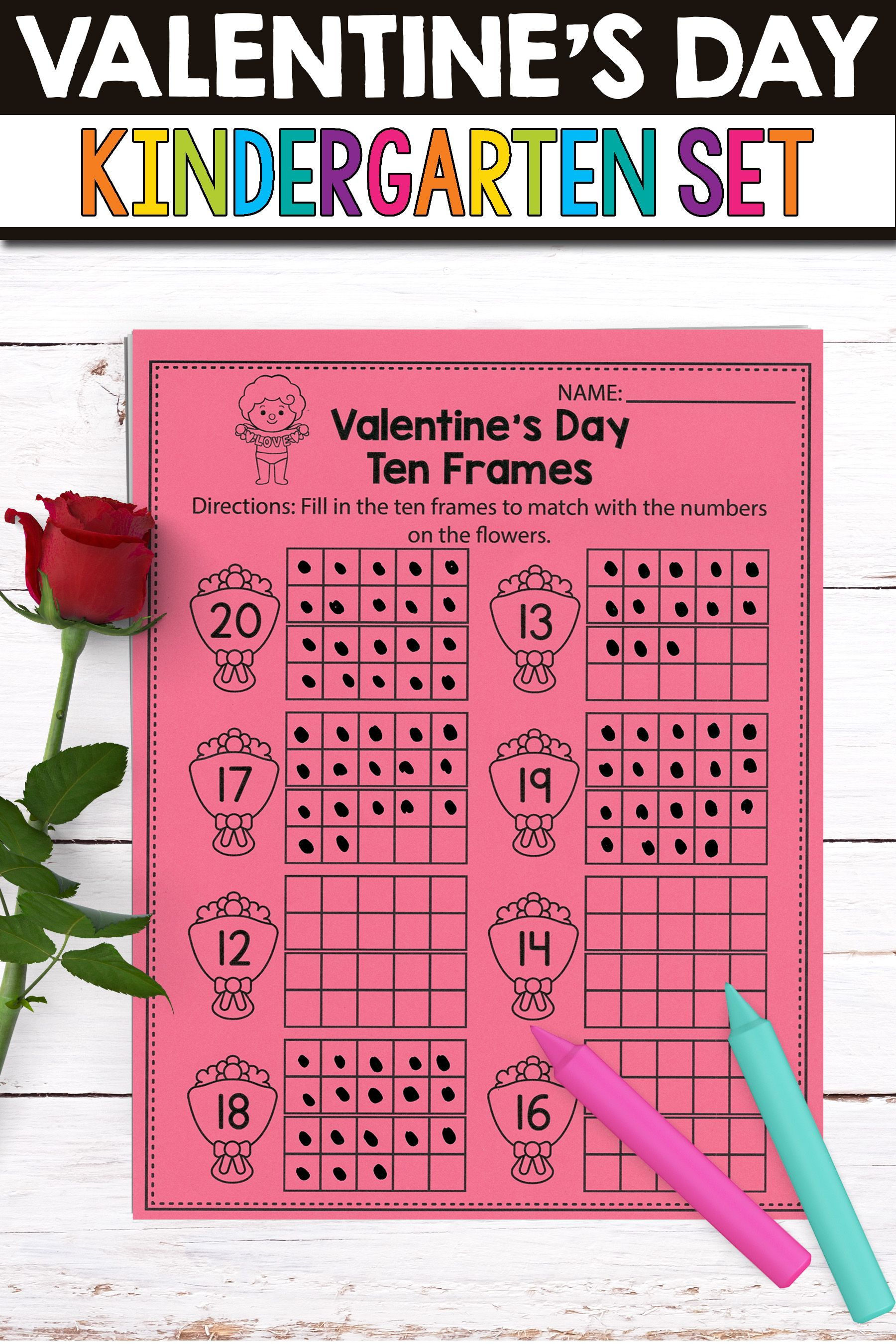 Fun Valentine Worksheets Math Activities And Worksheets For Kindergarten Kids That Are Common
