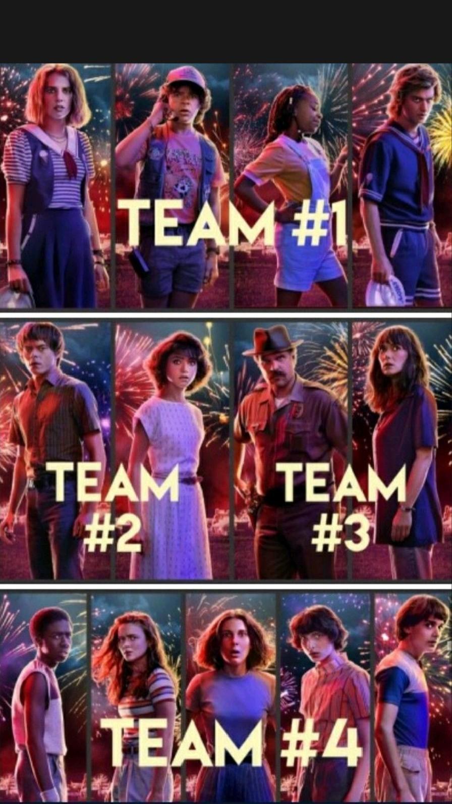 team stranger things