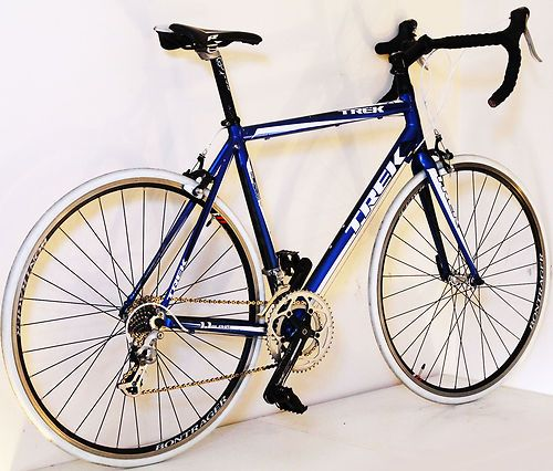 10kg 56cm Trek 1 1 Racing Road Bike Aluminium Frame Shimano 16 Speed Blue Mens