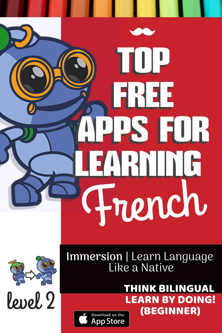 French app, English app for ESL for learning in classroom
