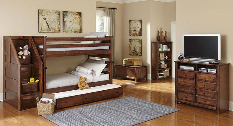 Mccormick Road Twin Over Twin Stairway Bunk Bed American