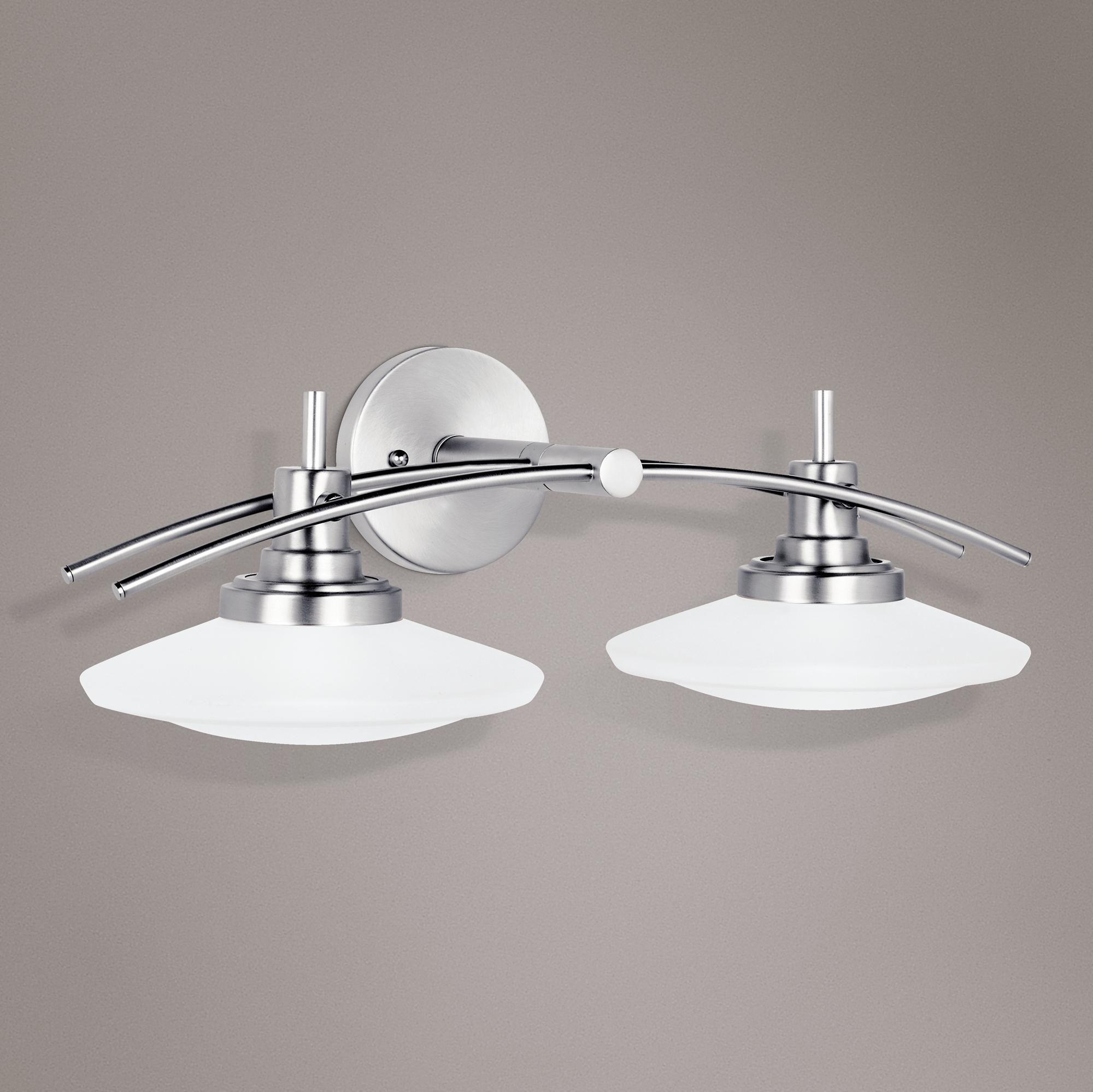 """Structures Nickel 22"""" Wide Bathroom Light Fixture  Bathroom Light Pleasing Light Fixtures Bathroom Review"""