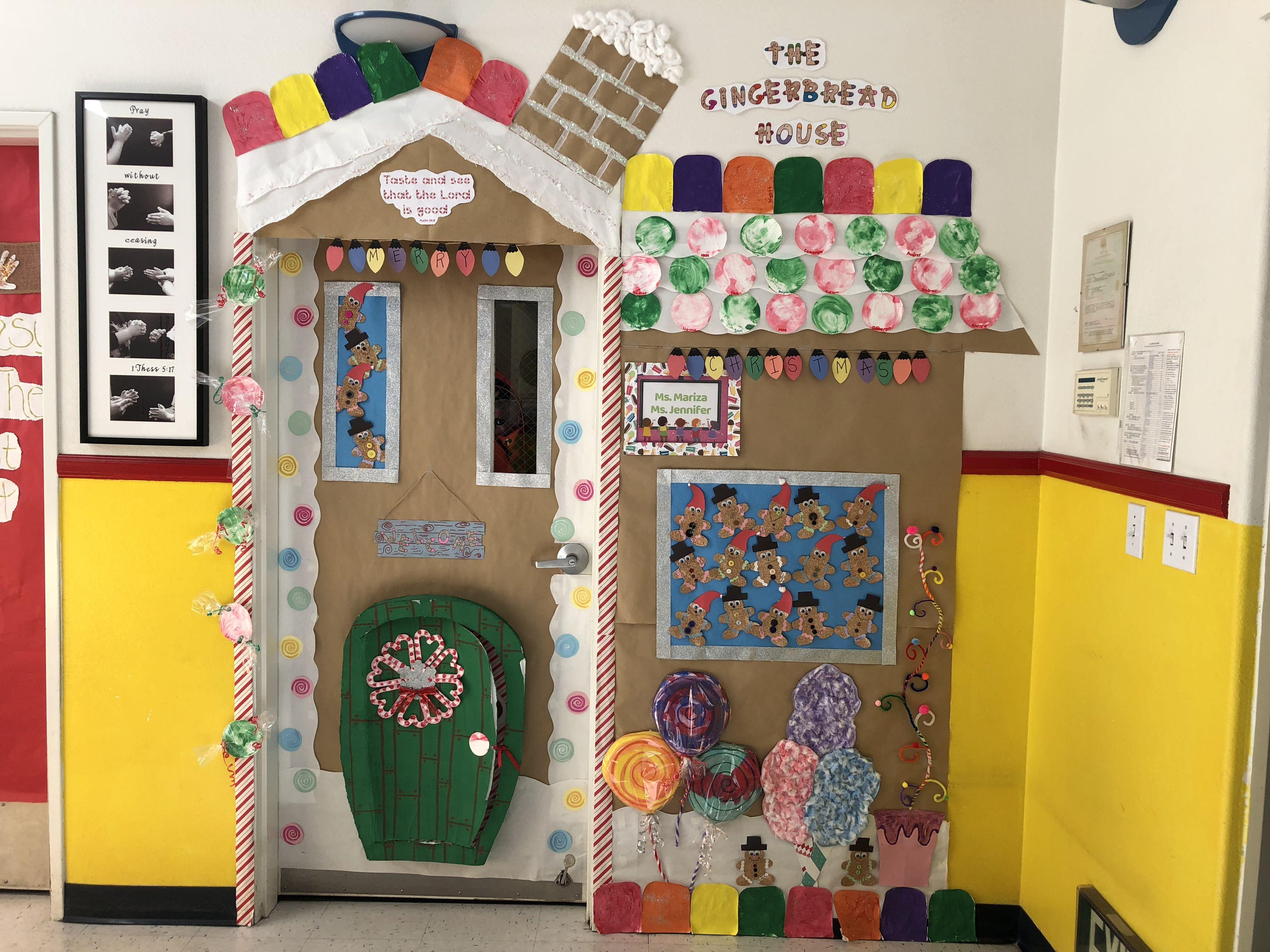 Gingerbread House Classroom Door