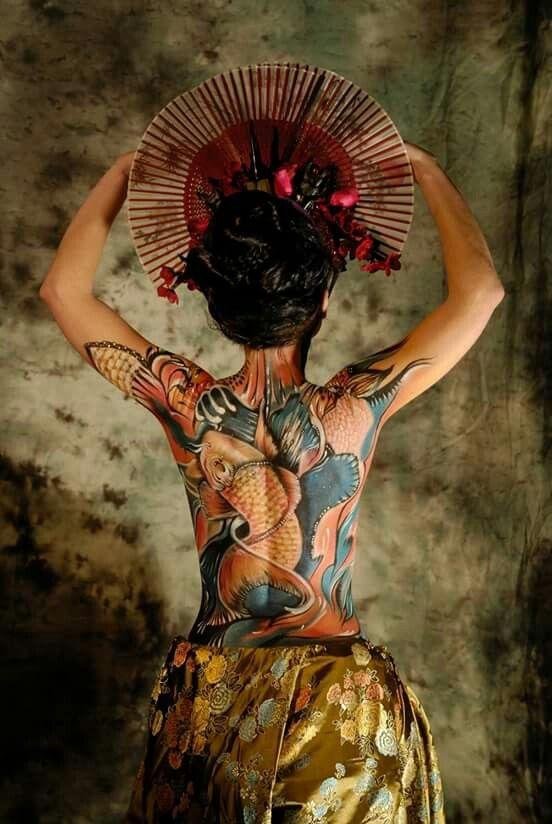 Yakuza Spirit Photo Adele Delos Bodypainting Elsa Joubert