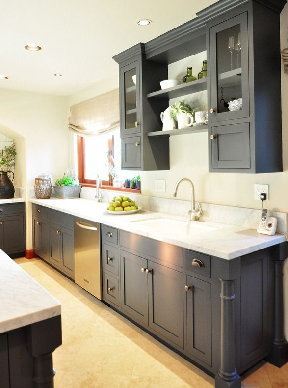 Charcoal Grey Kitchen Cabinets i want this gray on my kitchen cabinets gray kitchen cabinets