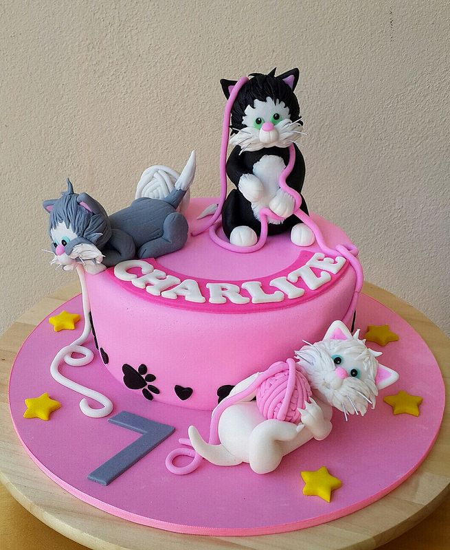 Cats Kittens Birthday Cake Animals Insects Birthday Party