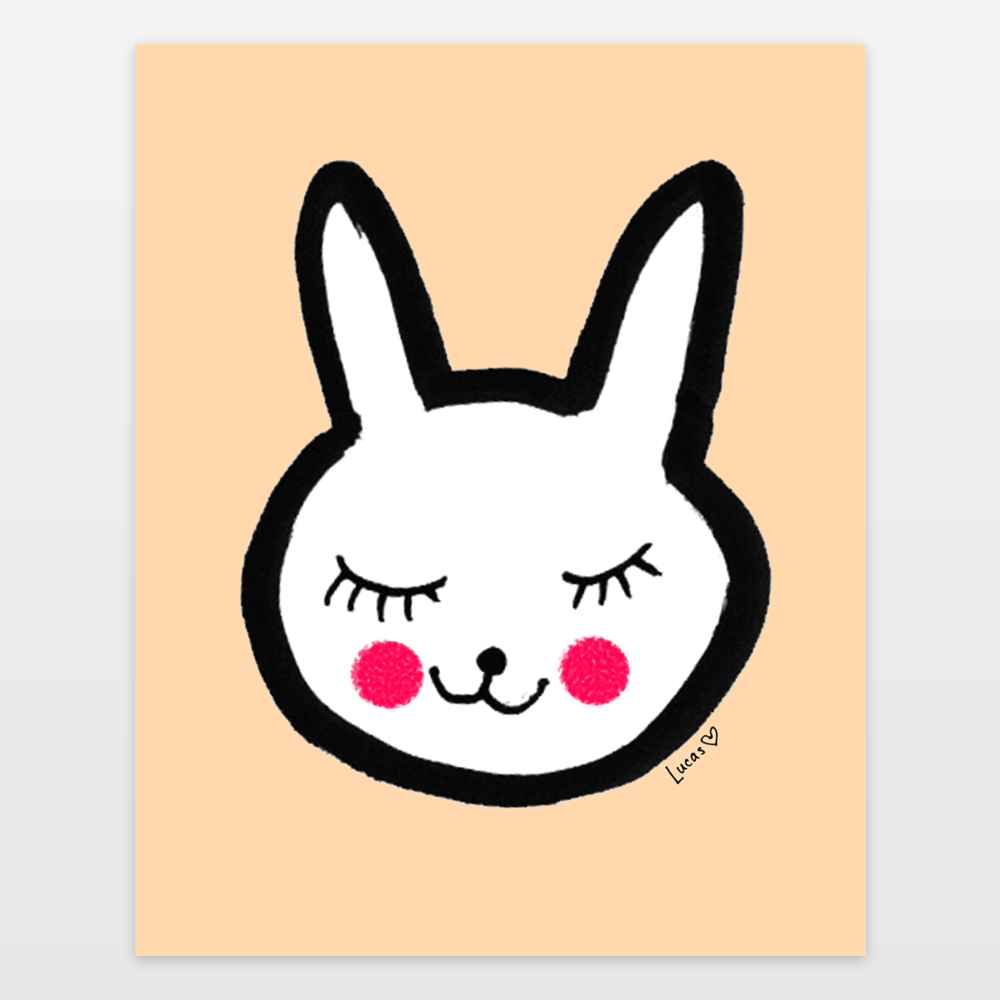 Happy Bunny Face by Lady Lucas   Kids Room & Nursery Decor   $19.99 ...