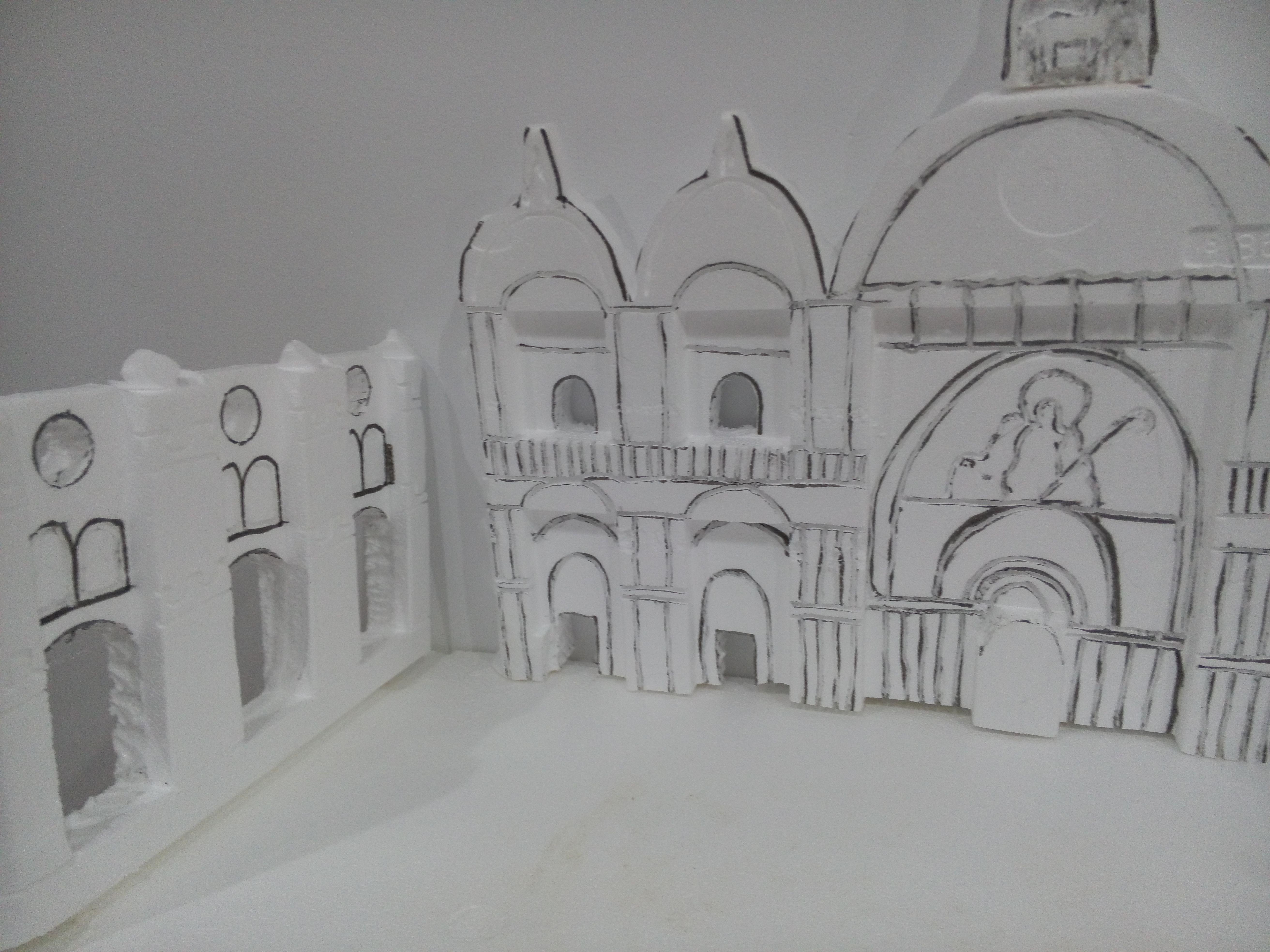 recreación plaza San Marcos hecha de poliestireno | poliestireno ...