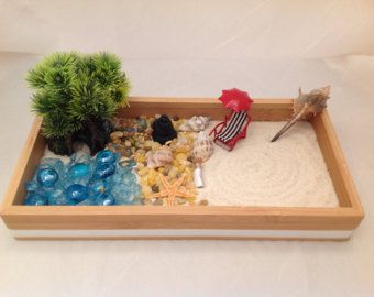 Superieur Zen Garden,Turtle Sensory Box,sand Box,handmade Polymer Clay Rock  Pond,Fairy Garden Accessories.