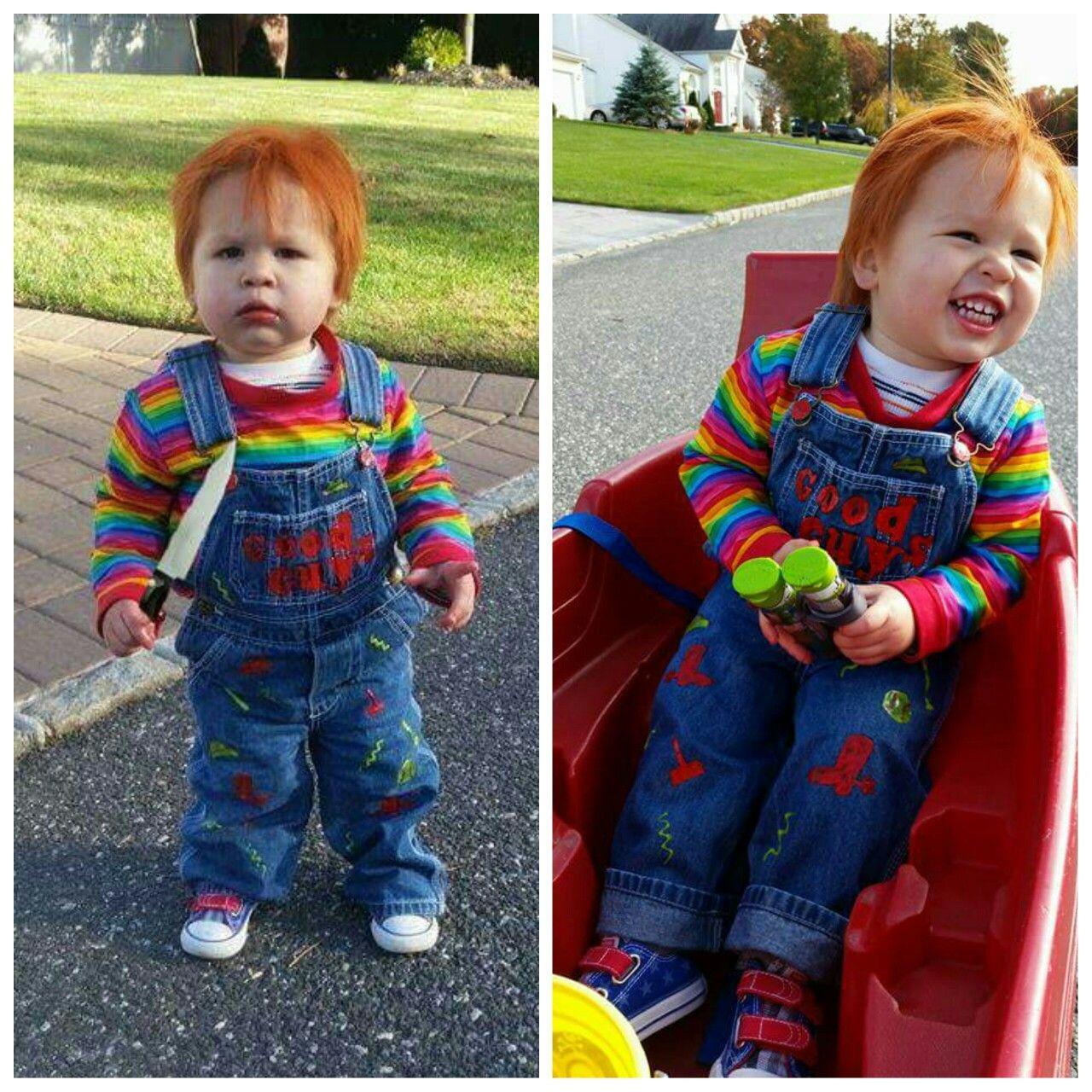Halloween Chucky costume. My little Chucky. My husband