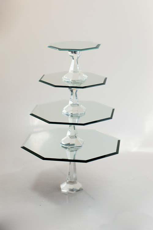How to Make Mirrored Cake Stands | Tikkido.com