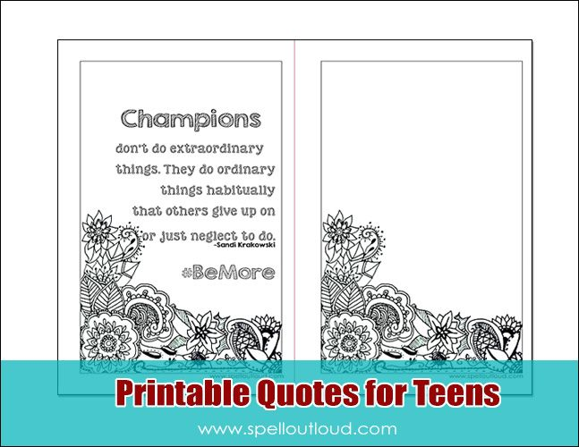 Free quote printables for teens from @maureenspell