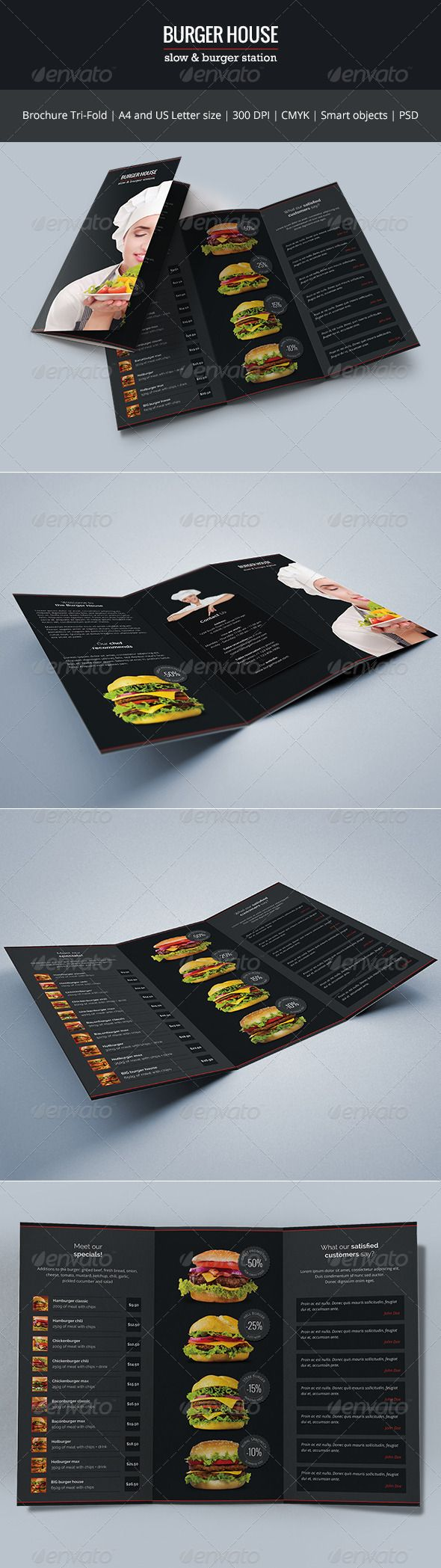 burger house brochure tri fold tri fold brochures and burgers