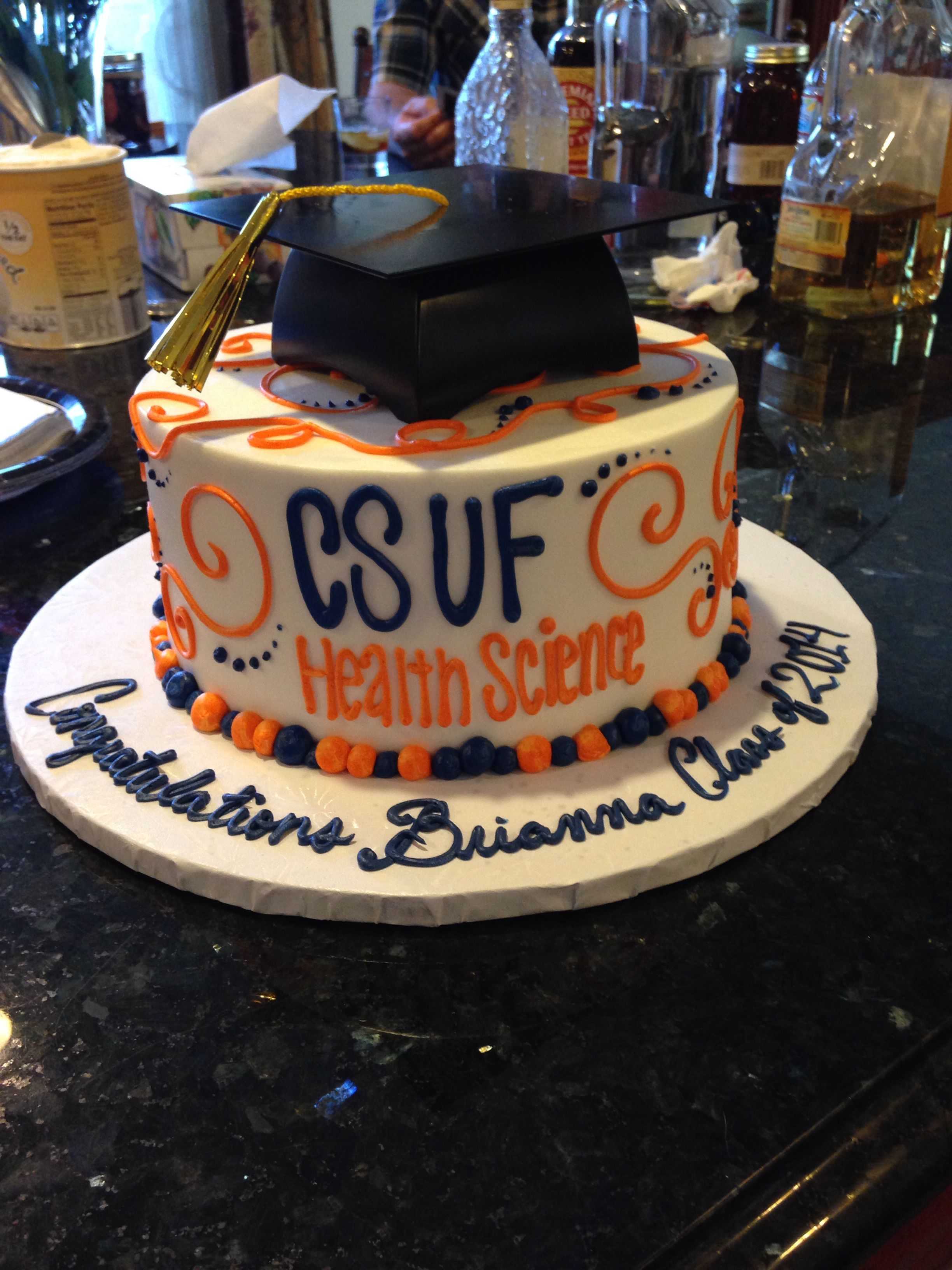 Csuf Graduation Cake From The Great Dane Baking Co In Los