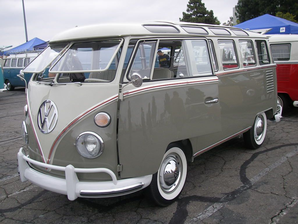 1963 23 Window Mouse Grey Pearl White Restored Vintage Vw Bus