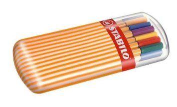 Estuche premium Zebrui con 20 colores Rotulador punta fina STABILO point 88