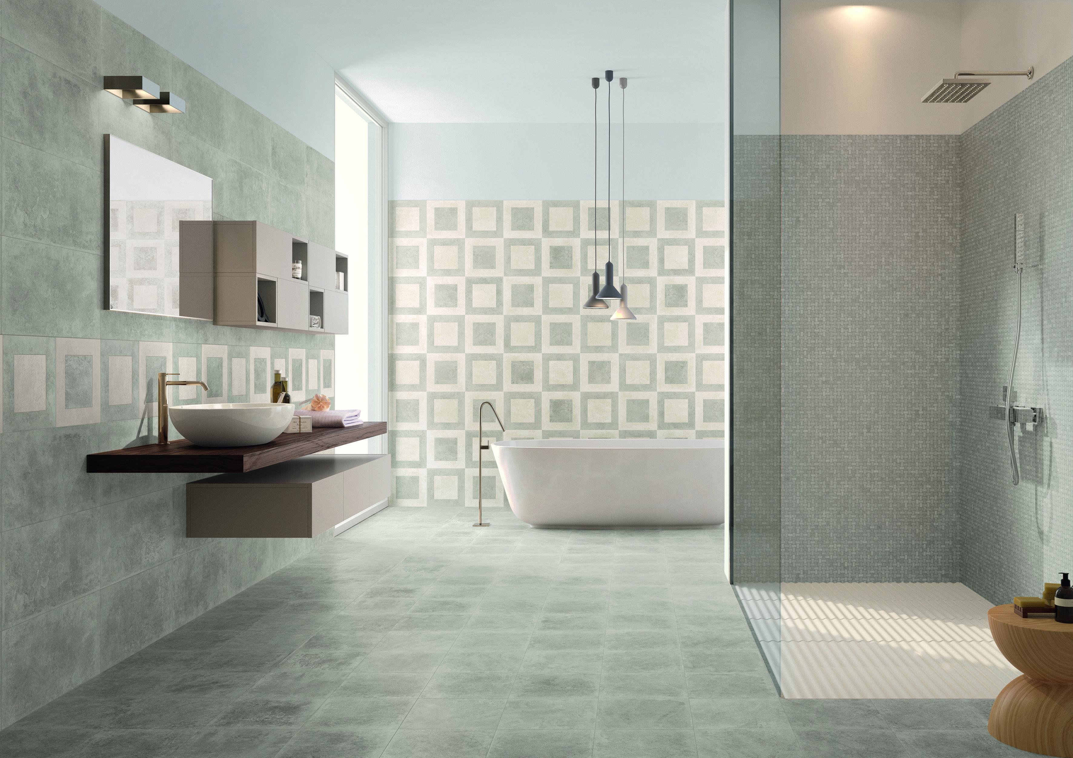 Quadri Per Bagno Moderno emilceramica - petra collection - colour: grey - decor