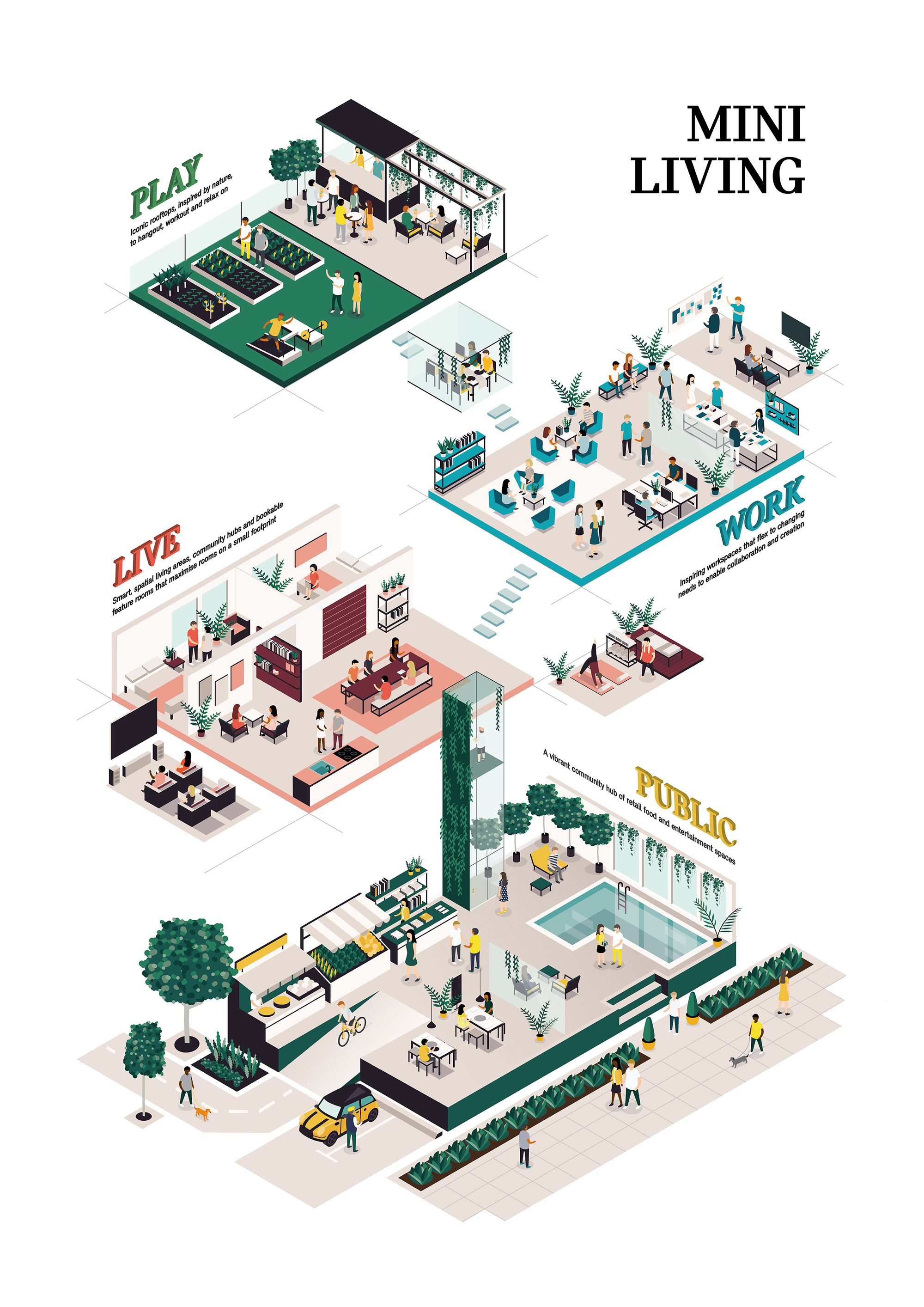 Gallery Of Mini Living S First Permanent Building Will Transform A Paint Factory Into A Co Living Hotspot In Shanghai 2 Architecture Concept Diagram Diagram Architecture Concept Architecture