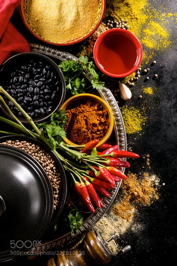 Beautiful Tasty Appetizing Ingredients Spices Grocery for