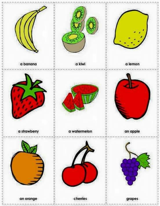 Fruits Printable Flash Cards Free Printable Flash Cards Flashcards