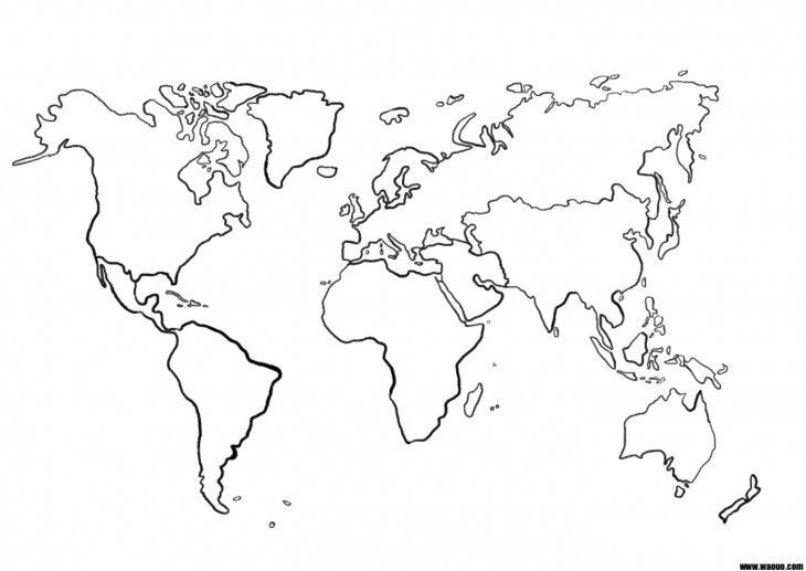 Une Carte Du Monde Mappemonde Vierge Pour La Geographie A