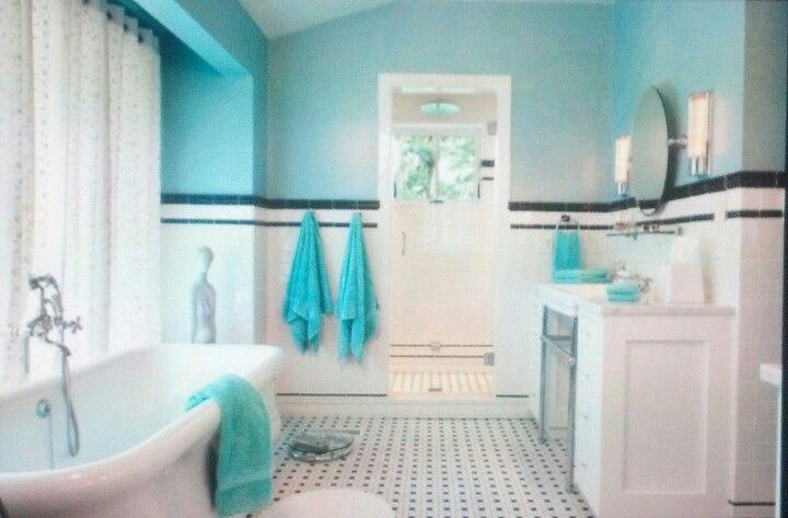 Pin Di Bethany Banks S Su For The Home Bagno Turchese Stanza Da Bagno Art Deco Design Del Bagno