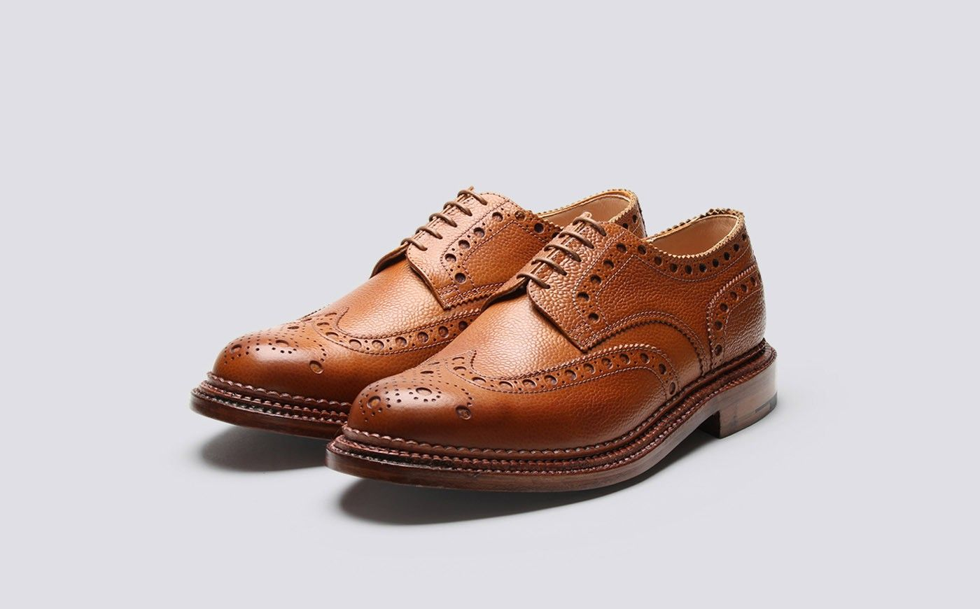 Stanley Cuir - Tan Brogues Bout D'aile Grenson KSuoEqf