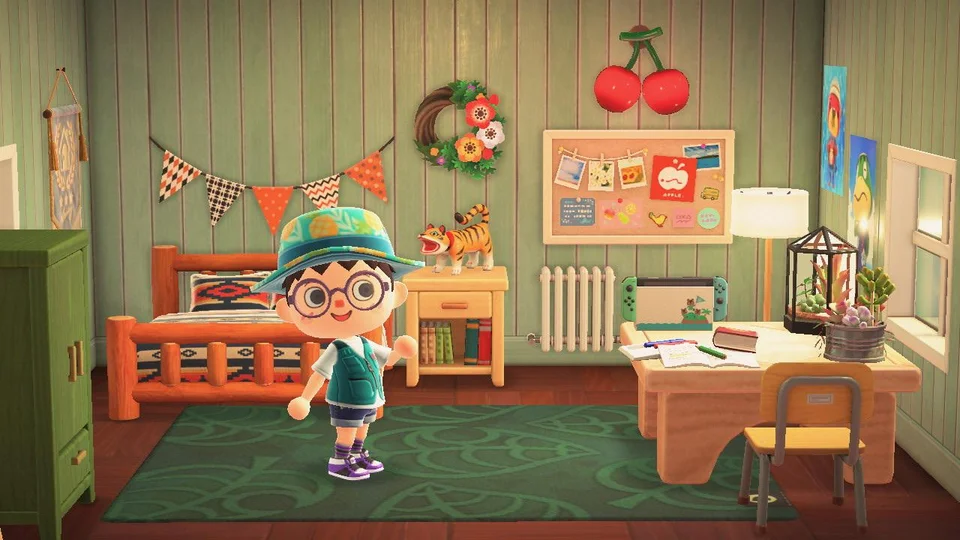 So proud of my bedroom right now :) : ac_newhorizons in ... on Animal Crossing New Horizons Bedroom Ideas  id=40394