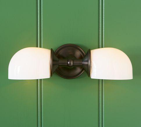 Mercer Double Horizontal Sconce Rustic Kitchen Lighting