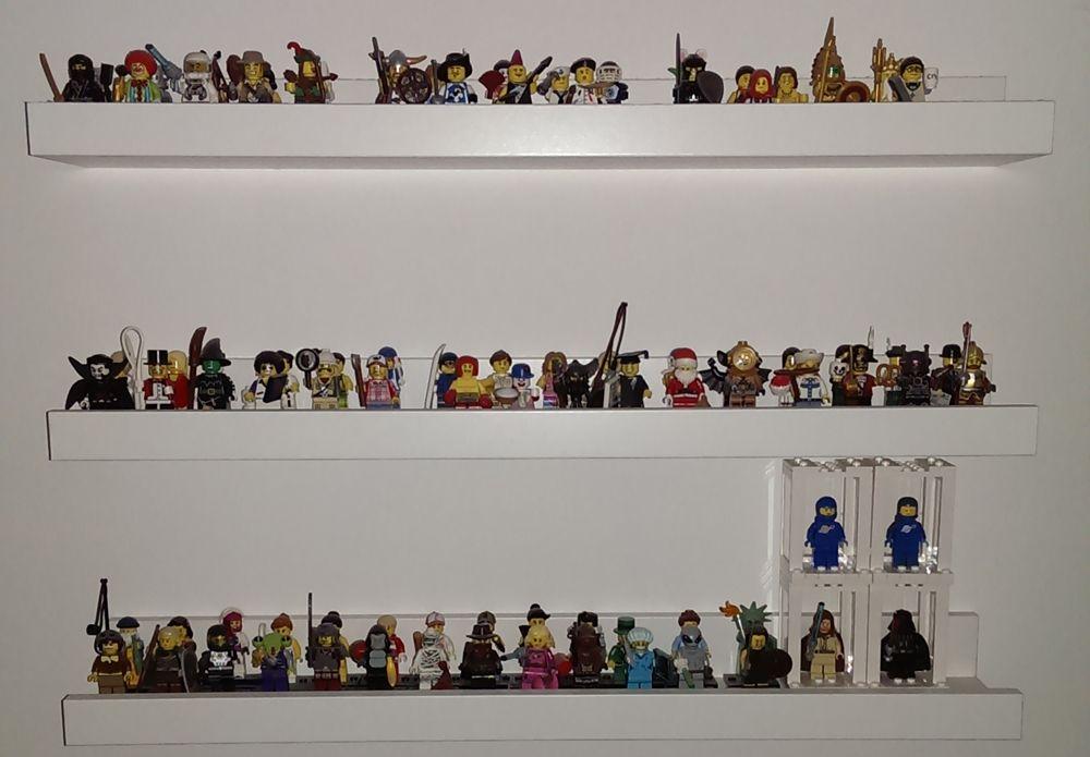 Staubige Sache: Minifiguren auf Miniregalen