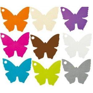 Marque place papillon carton 4 5 cm les 10 coloris au for Porte nom a imprimer gratuitement