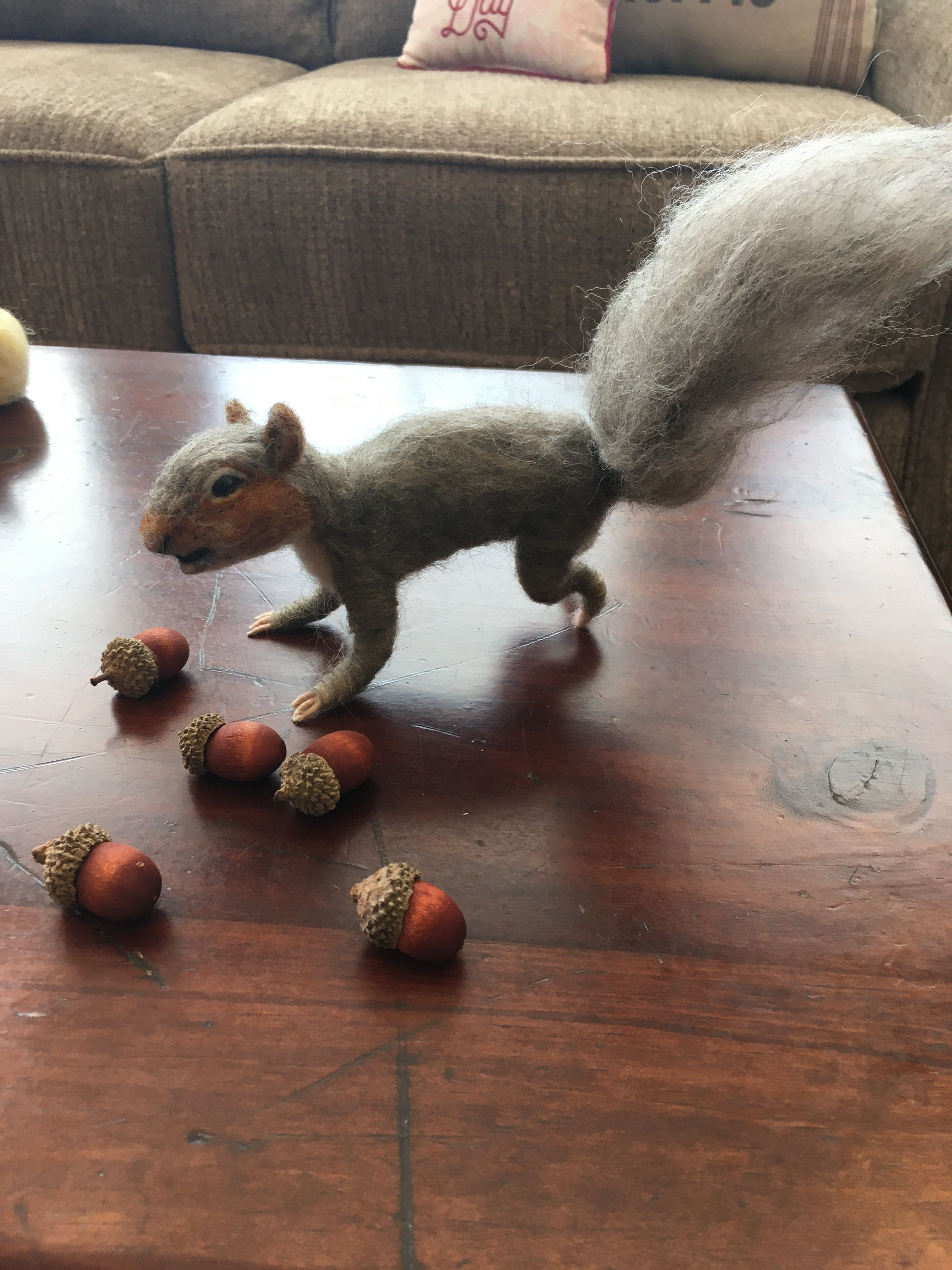 Needle Felt Squirrel Baby Squirrel Felt Baby Needle Felting [ 4032 x 3024 Pixel ]