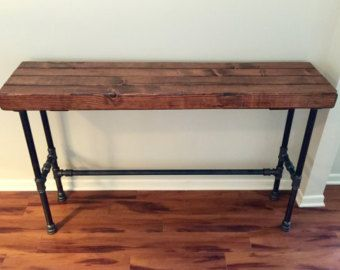 Steel And Wood Bar Table Thick Table Top By SteelandPine