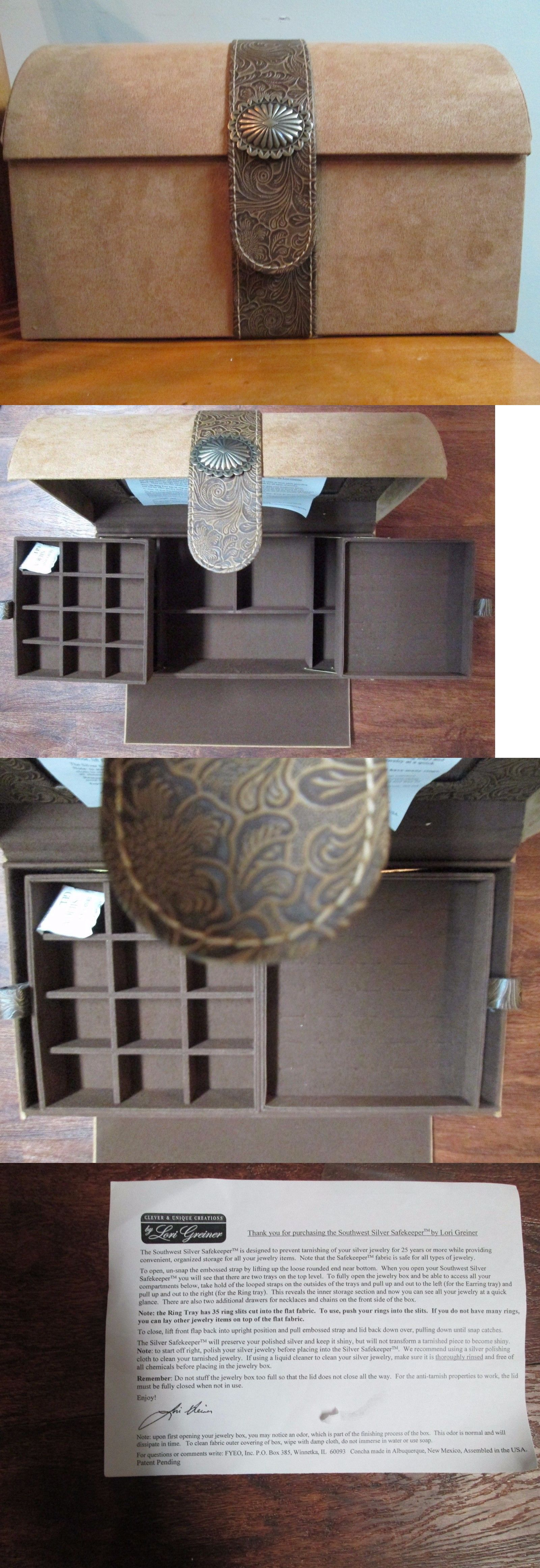 Jewelry Boxes 3820 Luxury Silver Safekeeper Southwestern Jewelry