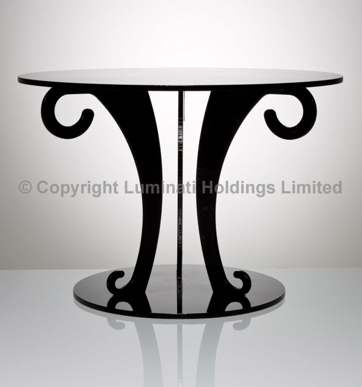 Black Acrylic Scroll Wedding Cake Stand Laser Cut Cool