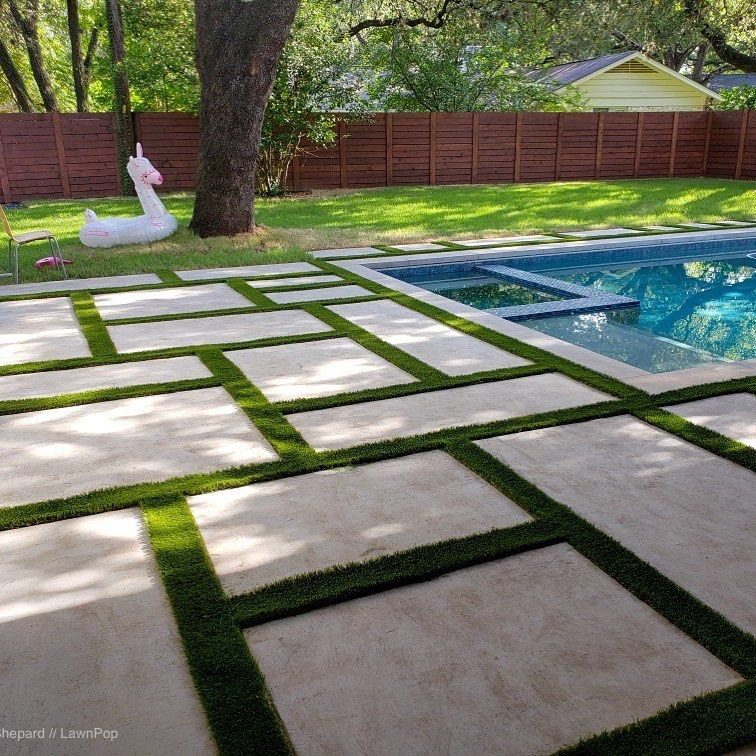 The Perfect Pool Deck By Lawnpop Artificialturf Artificialgrass Syntheticturf