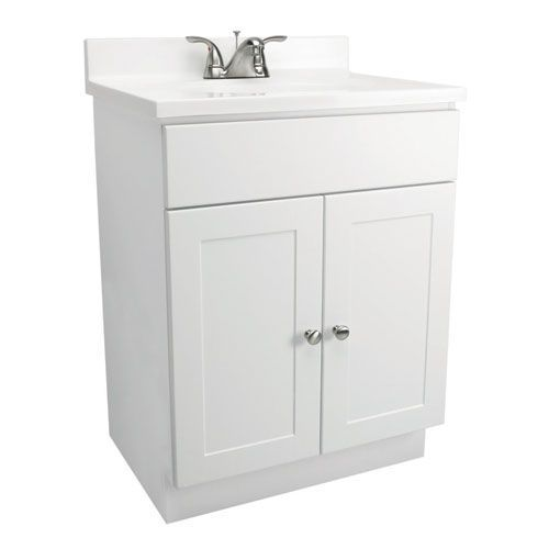 Vanity Combo 30 Inch White Vanity Bathroom Cabinet With Solid