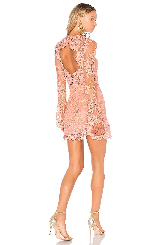SAYLOR Leondra Lace Mini Dress in Dusty Pink | REVOLVE | party ...