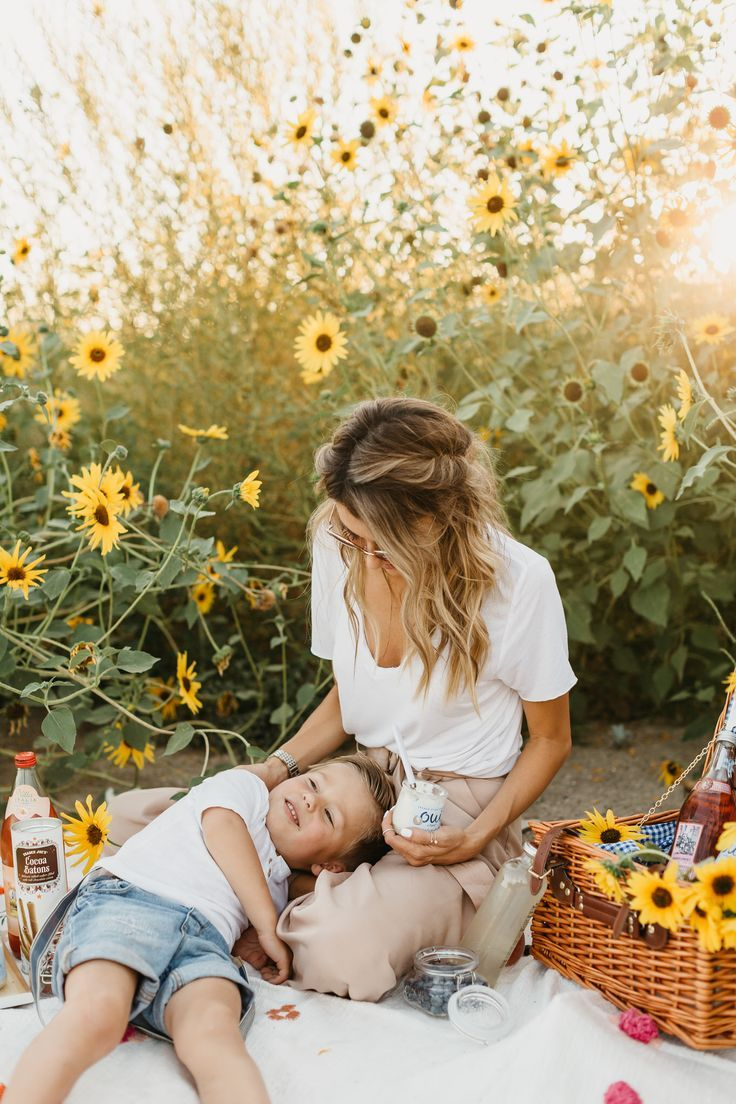 Sunflower Fields Mommy Amp Me Mother Son Photos Trendy