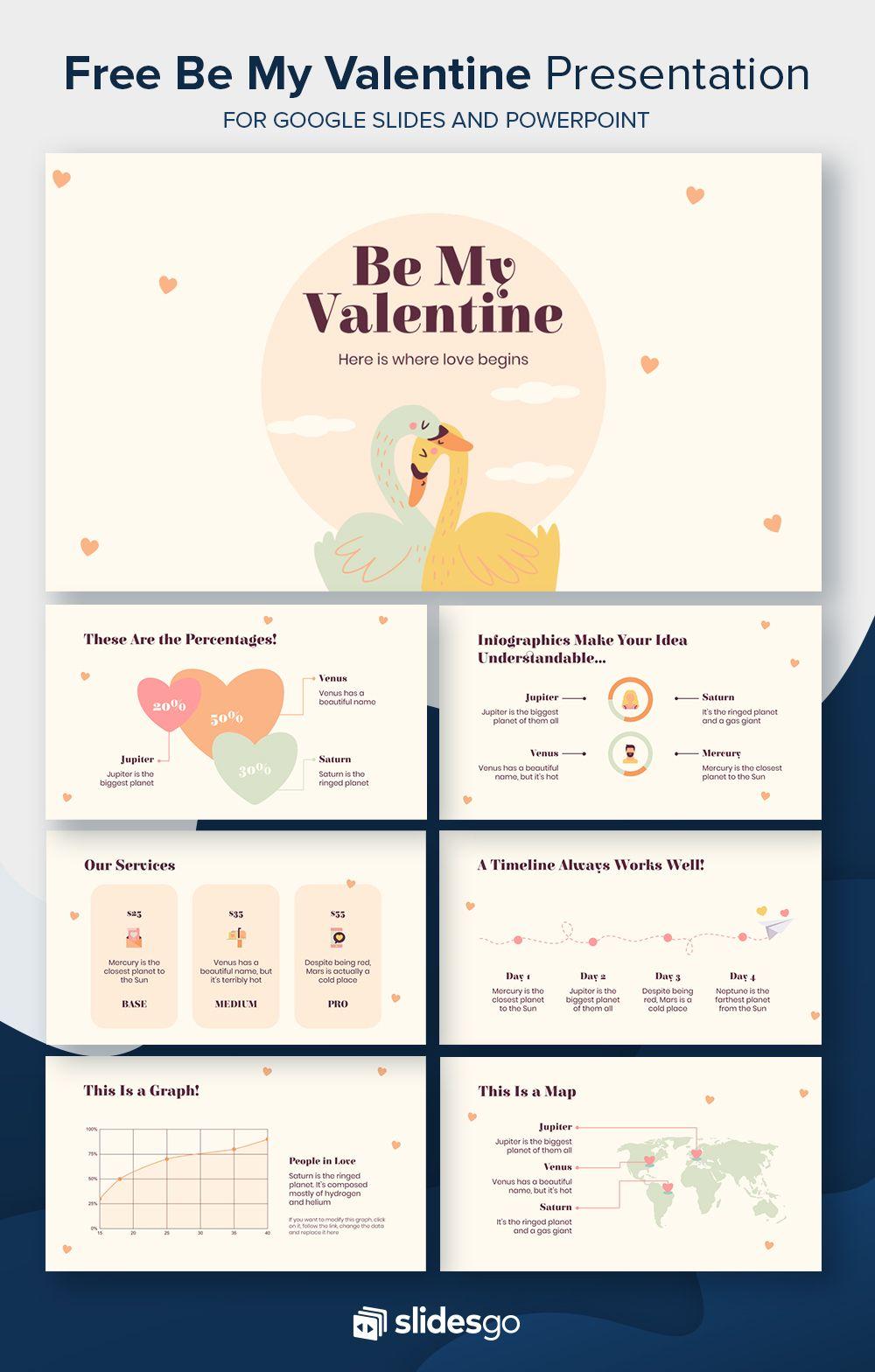 Be My Valentine Powerpoint presentation design