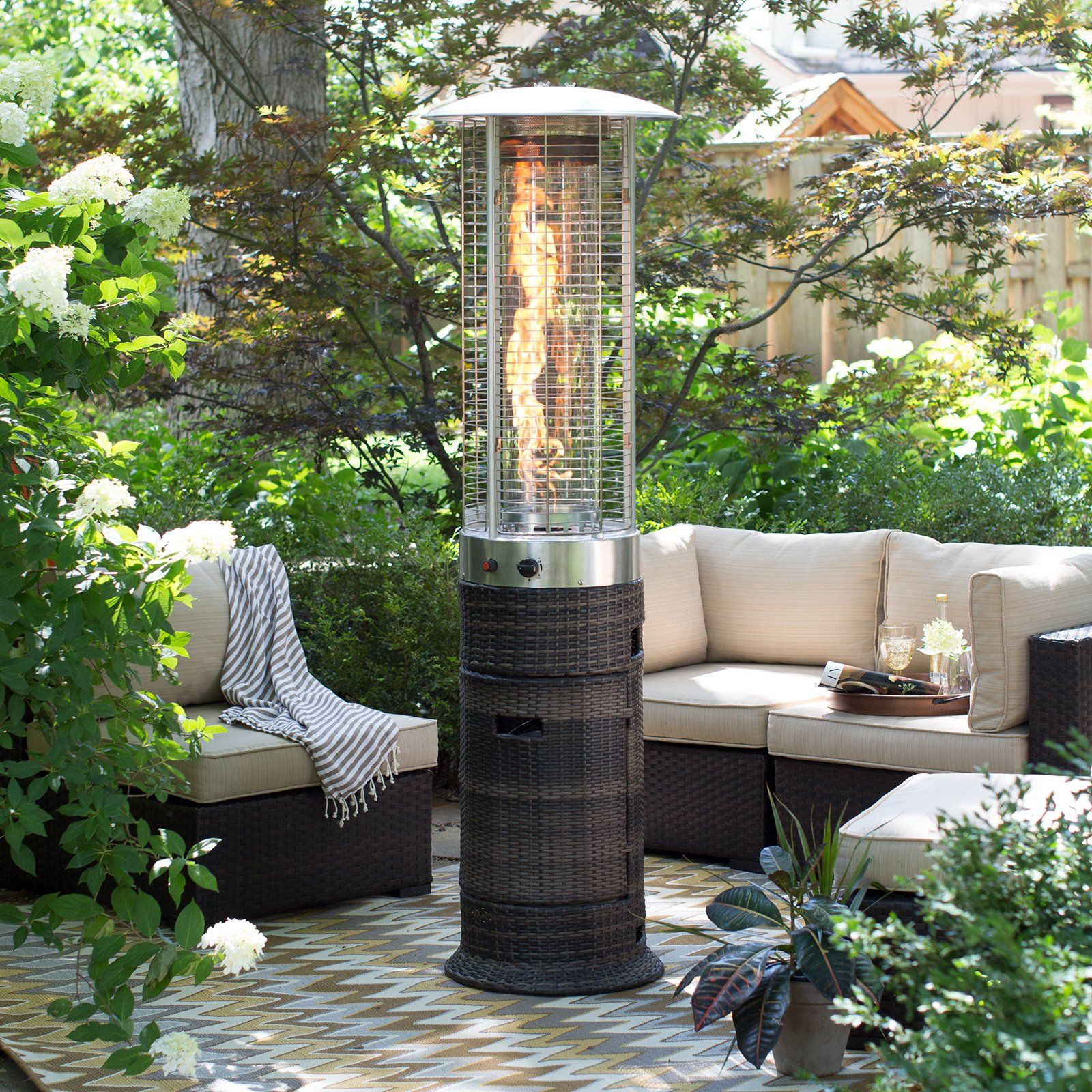 Red ember wicker patio heater from hayneedle garden