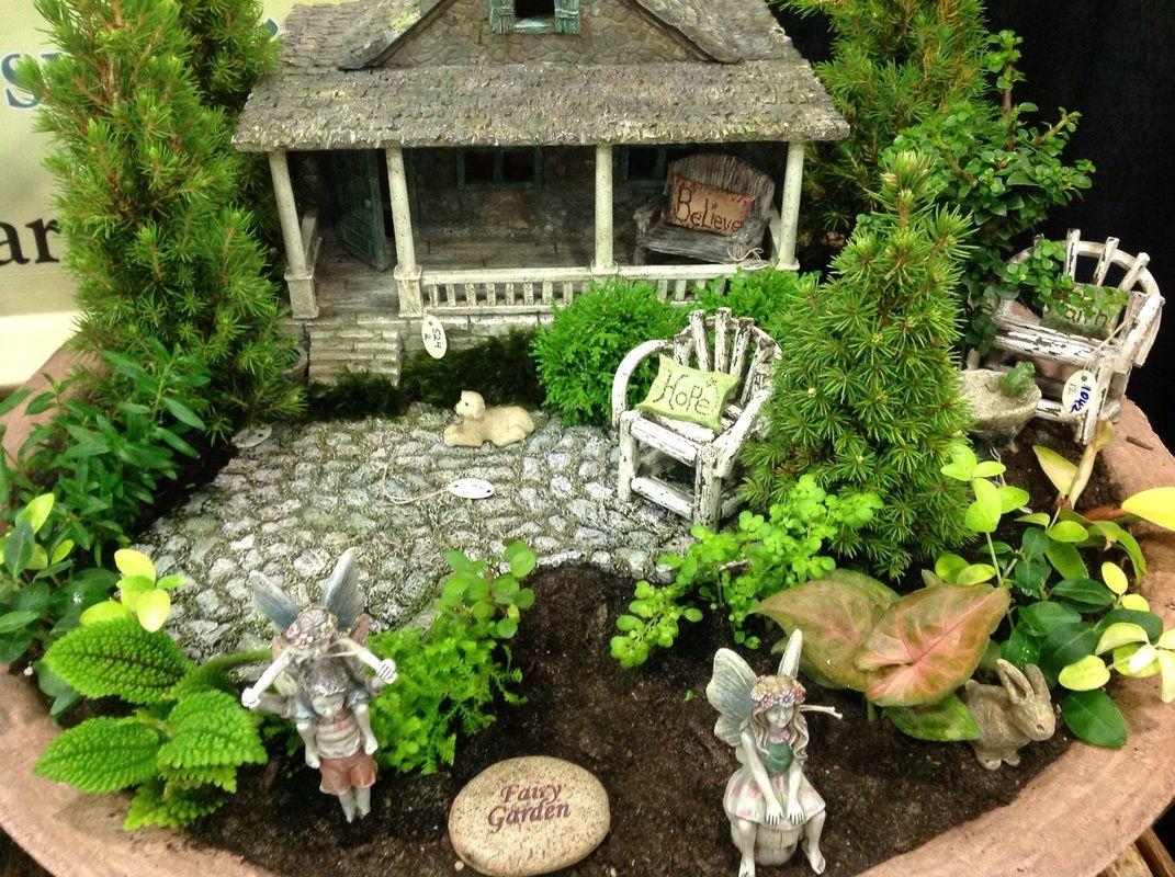 Miniature Fairy Garden | Feenhaus | Pinterest | Feengarten ...