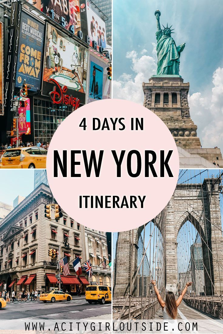 4 days in New York City is the perfect amount of time to spend in the city for your first visit. You'll probably want to hit up all the main sights and attractions. This 4 day New York City itinerary will help you plan your time so that you get to see the best of what this amazing city offers. #nyc #nycitinerary #newyork #newyorkcity #newyorkitinerary #newyorkin4days #4daysinnewyork #newyork4days #4daynewyorkitinerary #4daysnyc #nyctravel #newyorktravel