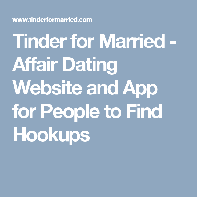 Apps for married men