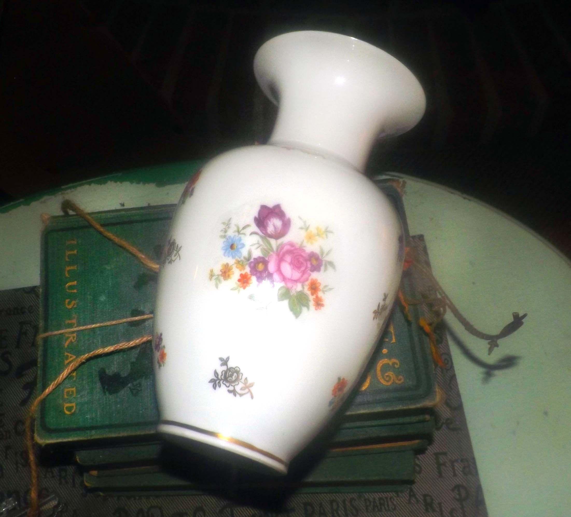 Midcentury (1950s) Reichenbach handpainted vase
