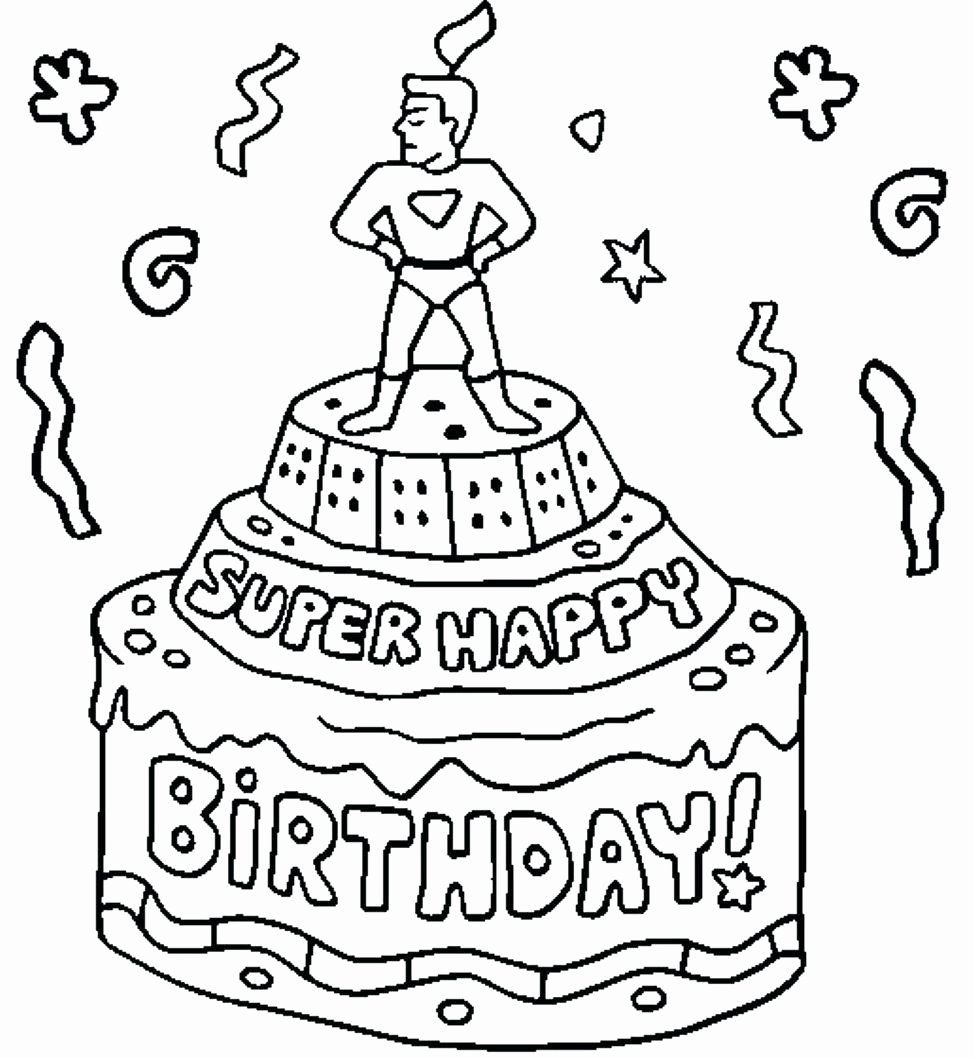 Happy Birthday Dad Coloring Card Happy Birthday Coloring Pages